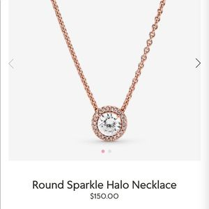 Pandora Jewelry - Pandora Sparkle Halo Necklace - Rose Gold